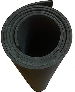 EVA Foam Cosplay | 6mm (¼ inch) Thick | Black 35 x 59 inch Sheet | Ultra High Density 85 kg/m³ | by The Foamory