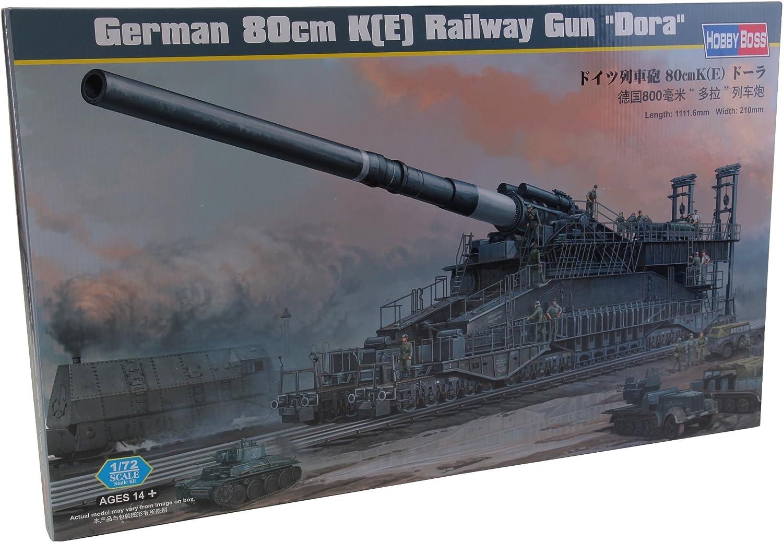 Hobby Boss German 80cm K(E) Railway Gun 'Dora' Vehicle Model Building Kit