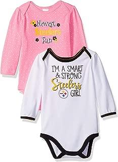 NFL Baby-Girl 2 Pack Long Sleeve Bodysuit