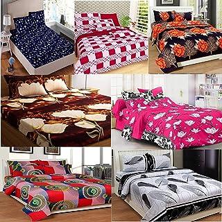 URBAN HOME Cotton 180 TC Bedsheet (King_Multicolour)