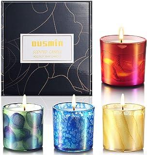 OUSMIN Velas Aromaticas Regalo de Velas Perfumadas, Cera de Soja Natural,Aromaterapia Decoración para Relajación Fiesta Boda Baño Yoga Cumpleaños Navidad Día de San Valentín