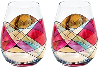 Best stained glass wine glass Reviews