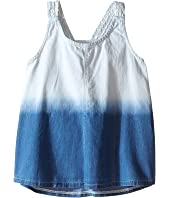 Splendid Littles - Bleach Out Denim Tank Top (Big Kids)