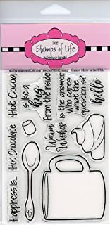 Winter Stamps for Card-Making and Scrapbooking Supplies by The Stamps of Life - Hot-Chocolate-2Stamp Sentiments
