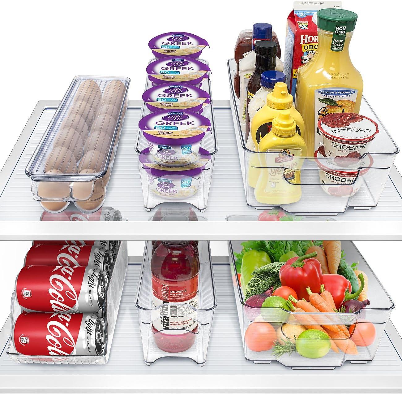 Sorbus Fridge Bins and Kansas City Mall Organizer Super popular specialty store Stack Refrigerator Freezer