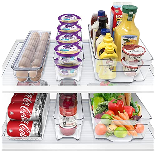 Sorbus Fridge Bins and Freezer Bins Refrigerator Organizer Stackable Food Storage Containers BPA-Free Drawer Organizers for Refrigerator Freezer and Pantry