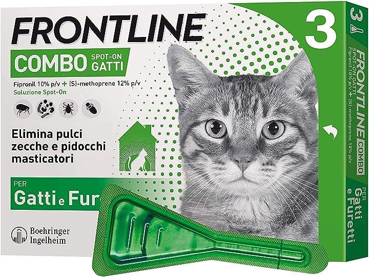 Frontline combo spot-on gatti - offerta 12 pipette  merial B07QGDMFZX