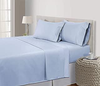 800-Thread-Count Sheets Queen,100% Egyptian Cotton Sheets Queen,Premium Cotton Sheets Set - Deep Pocket, Best Bed Sheets,Luxury Cotton sheets,Cotton Sheets Queen Size,Queen Sheet Set, Ballad Blue