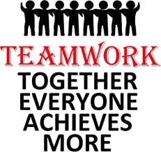 Teamwork Motivation Inspirational Wall Decal Quote for Office Art Classroom Art Wall Vinyl Decals Decor Sticker Large Art Inspirations Quotes Team Together Everyone Achieves More