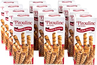 Pirouline Rolled Wafers, Chocolate Hazelnut, 3.25-Ounce Boxes (Pack of 12)