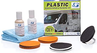 Glass Polish GP31007 Plastic and Acrylic Restoration Kit, Removes Scratches, Water Damage, Restore Hazy, Foggy, Discolored Surface