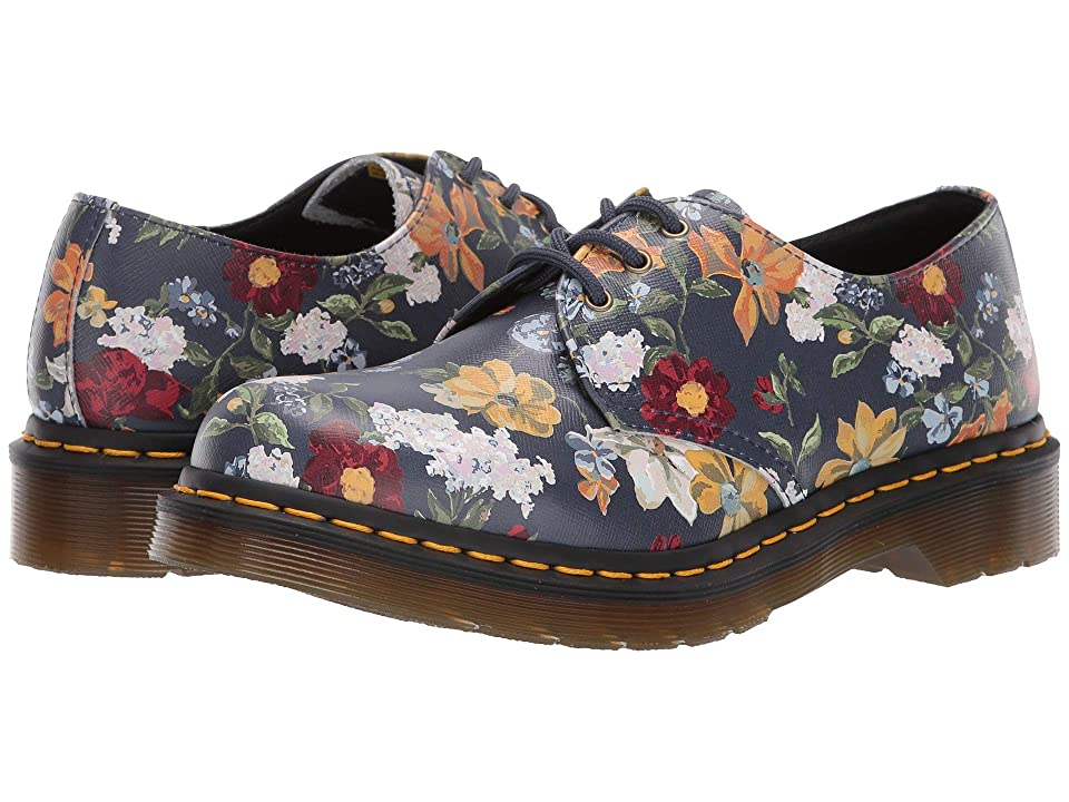 Dr. Martens 1461 Darcy Floral (DMS Navy Darcy Floral Backhand Straw Grain) Women