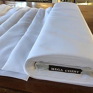 Megachest - Rollo de tela de color blanco liso, ignífugo (50 m, 150 cm de ancho). Cortinas de decoración para bodas