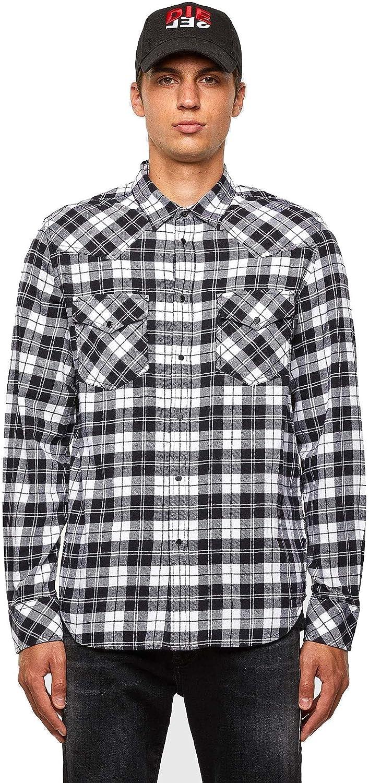 Diesel S-East-Long-Chk Shirt 0EBAD Ivory