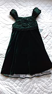 Green Velvet Flower Girl Pageant Holiday Christmas Dress Toddler