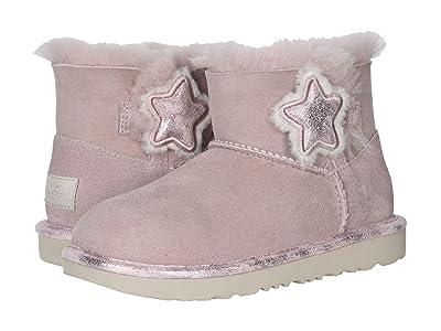 UGG Kids Mini Bailey Button II Star (Little Kid/Big Kid) (Pink Crystal) Girl