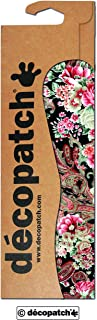 Decopatch Papers Oriental Floral Print, 395 X 298 Mm - Pink/White/Black/Gold By Decopatch