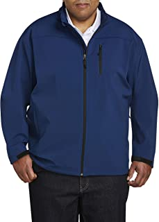 Amazon Essentials Men's Water-Resistant Softshell Jacket fit by DXL