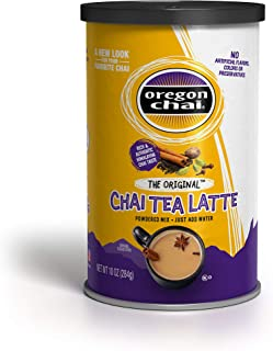 Oregon Chai Original Chai Tea Latte Powdered Mix 10-Ounce Containers , Powdered Spiced Black Tea Latte Mix For Home Use, C...
