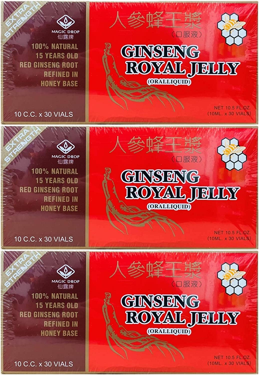 3 Boxes Magic Drop Ginseng Royal Ranking TOP16 Opening large release sale 90 Vials 30 Vial Jelly Total