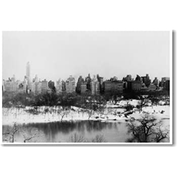 Amazon Com Central Park New York City Circa 1910 New World Travel Poster Office Products