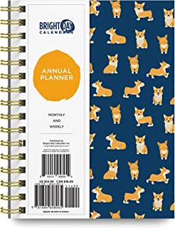 Bright Day Calendars 2021 Annual Planner by Bright Day, Yearly Monthly Weekly Daily Spiral Bound Dated Agenda Flexible Cov...