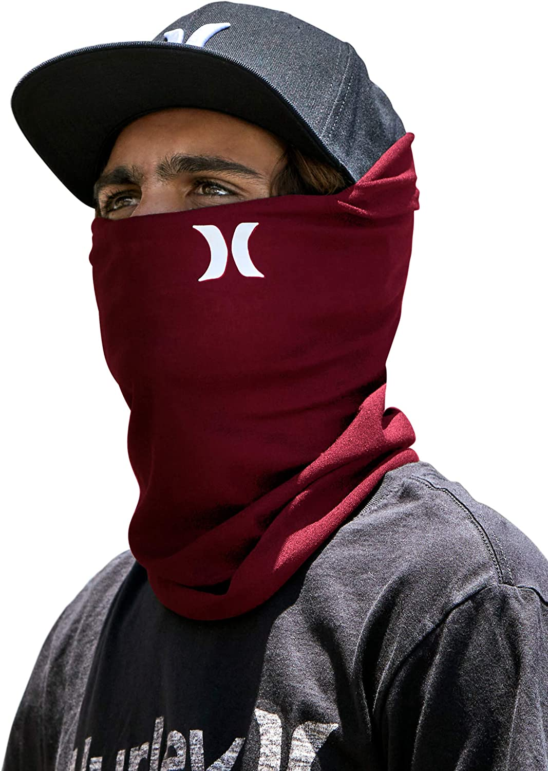 Hurley Icon Solid Gaiter Burgundy One Size: Clothing