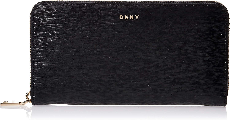 DKNY Damen Full Zip Geldtasche Geldbörse Schwarz ONE Size