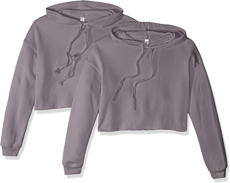 Marky G Apparel Women's Cropped Fleece Hoodie-2 Pack