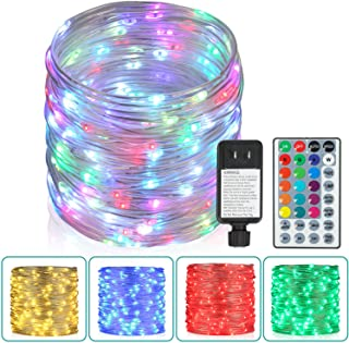 Outdoor String Lights,80 Ft Rope Lights 240 LEDs Color Changing Lights with Remote, Waterproof Lights Plug-in Outdoor Fair...