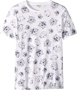 All Over Printed Tiger Short Sleeve T-Shirt (Big Kids)