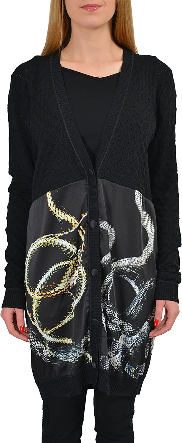 Just Cavalli Wool Multi-Color Knitted Women's Cardigan Sweater US S IT 40
