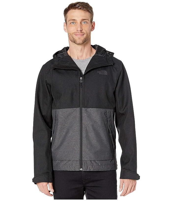 The North Face  Millerton Jacket (TNF Black Herringbone/TNF Medium Grey Heather Dobby) Mens Coat