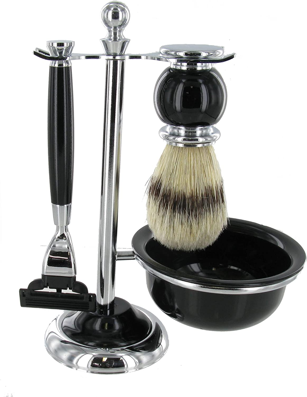 Artamis Mens online shopping Black Shaving Set Brush Shaver In a popularity B in Gift Hanger and