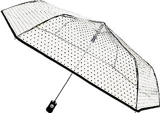 SMATI Ombrello pieghevole a cupola trasparente - automatica - compatta - forte anti-vento