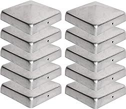 10er Set Zaunpfosten Kappen Holzpfosten Abdeckungen 9 x 9 cm in runder Kugel Form aus Edelstahl zum g/ünstigen Aktionspreis