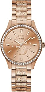 Guess Womens Quartz Watch, Analog Display and Stainless Steel Strap W1280L3