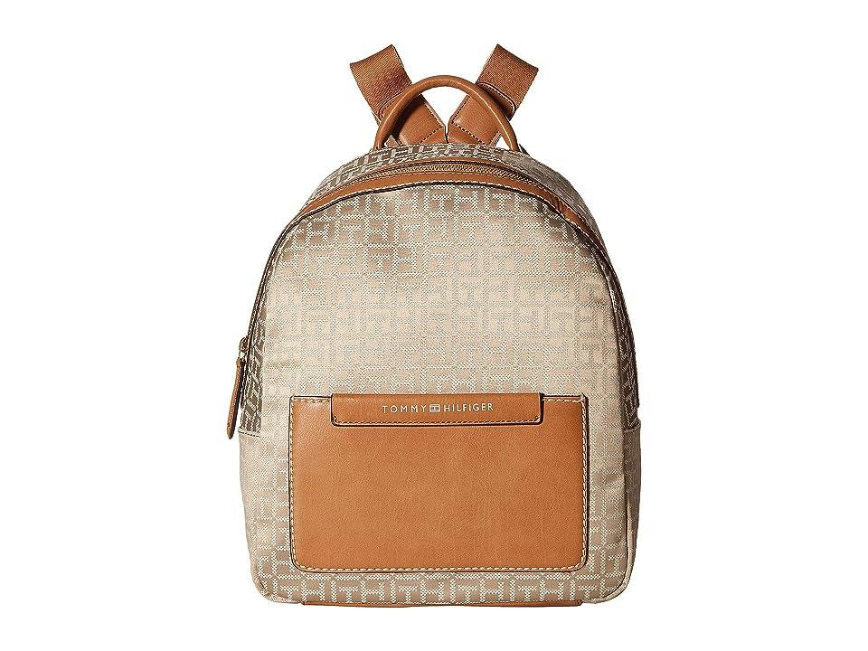 Tommy Hilfiger Jackie Backpack (Khaki/Tonal) Backpack Bags