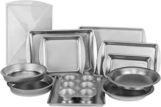 EZ Baker Uncoated, Durable Steel Construction 12-Piece Bakeware Set - Natural Baking Surface that Heats Evenly for Perfect...