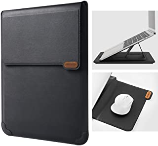 Nillkin 15.6 inch Laptop Sleeve Case Laptop Stand Adjustable, Computer Shock Resistant Bag with Mouse Pad for MacBook Pro ...