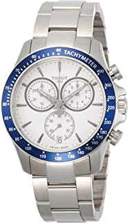 Tissot Men's Quartz Watch with Stainless-Steel Strap, White, 21 (Model: T1064171103100)