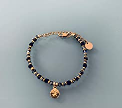 Perline bracciale e venti rosa, bracciale donna gourmet magico pietre naturali e 24k heishi perline, bracciale d'oro, gioi...