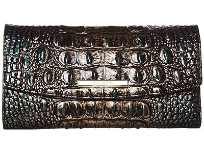 Brahmin Melbourne Modern Checkbook Wallet (Agate) Wallet Handbags