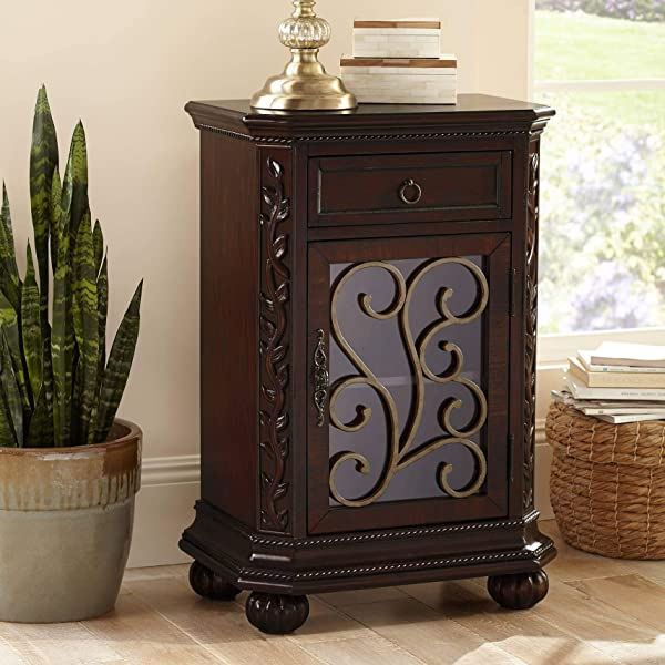 Arriana 22 1 2 Wide Cherry Finish Accent Table Kensington Hill