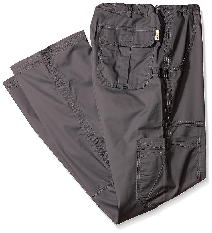 KOI Men's Big and Tall James Elastic-Waist Scrub Pants with Zip Fly and Drawstring Waist