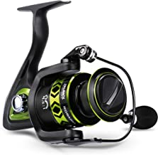 RUNCL Spinning Fishing Reel RORAIMA, Fishing Reel - Full Metal Body, 7+1 BB, Carbon Fiber 17.5 LB Max Drag, Braid-Ready Spool, CNC-Machined Spool - Smooth Freshwater Fishing Spinning Reel for Beginner