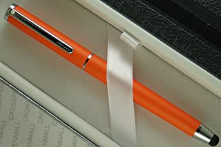 Cross Sheaffer, Matte Tangerine with polished Appointments Ballpoint Pen with Stylus and a matching Sheaffer Jounal set