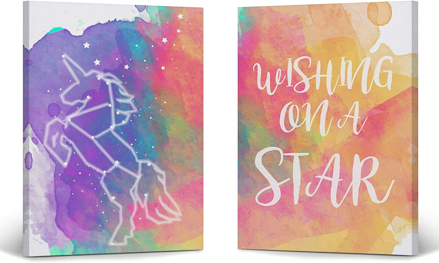 Popular brand in the world Smile Art Ranking TOP2 Design Cute Unicorn Wall Quote Decor on Wishing a Star
