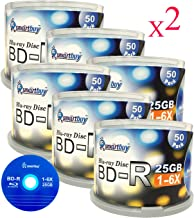 Smartbuy 600 Pack Bd-r 25gb 6x Blu-ray Single Layer Recordable Disc Logo Top Blank Data Video Media 600 Disc Spindle