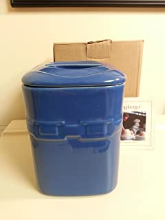 Longaberger Cornflower Blue Medium Canister With Lid Pottery New In Box
